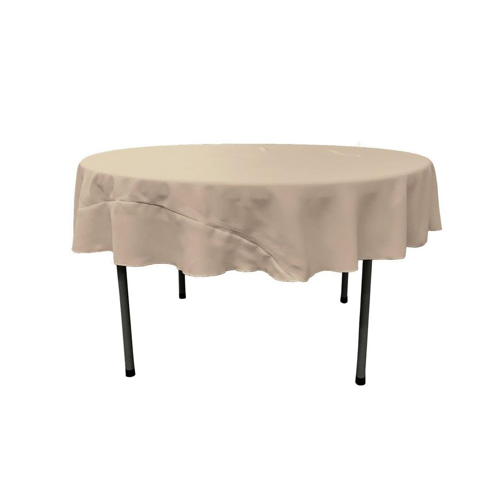 L.A. Linen Light Gray 72 in. Round Polyester Poplin Table...
