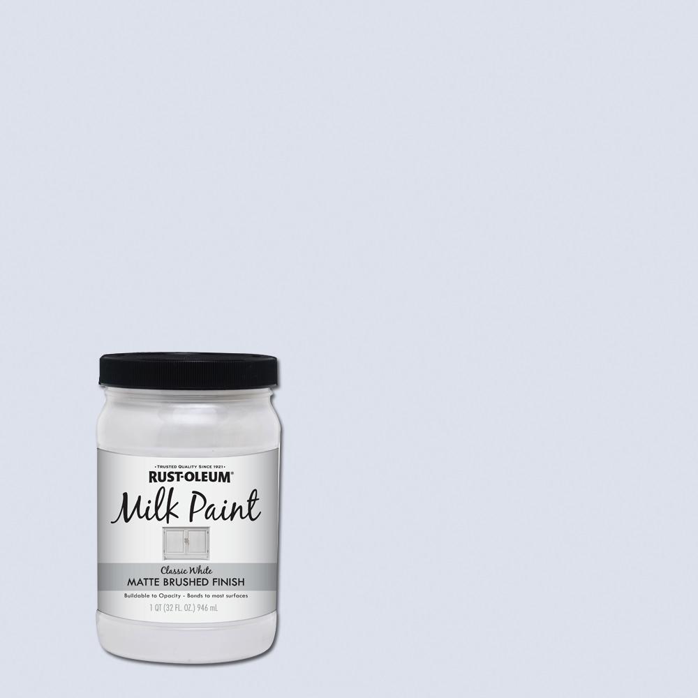 Rust-Oleum 1 qt. Brush-On Craft Milk Paint, Classic White (2 Pack)