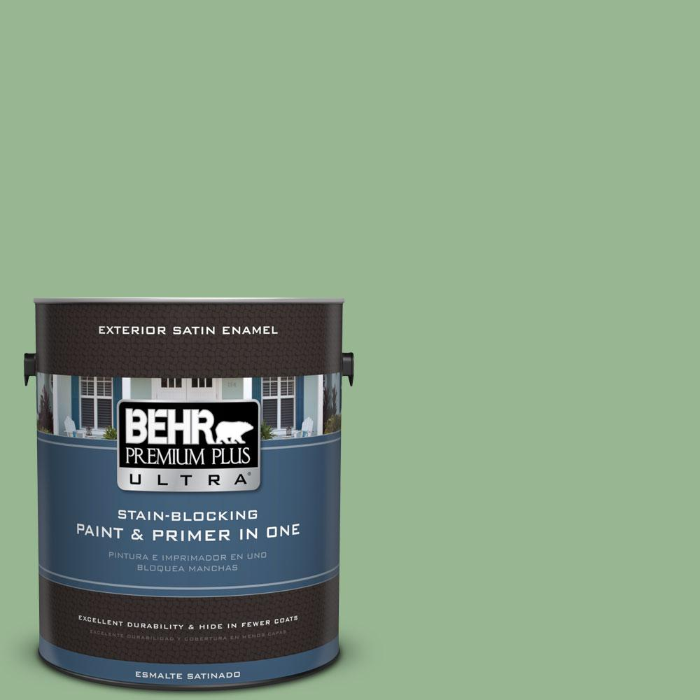 BEHR Premium Plus Ultra 1-gal. #M400-4 Brookview Satin Enamel Exterior Paint