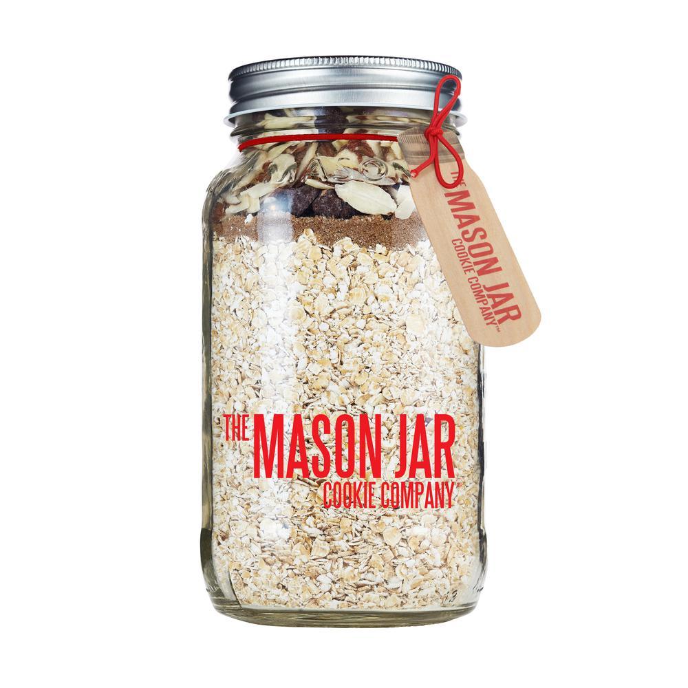 Chocolate Almond Granola in a Mason Jar