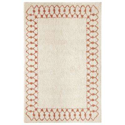Chained Border Coral 5 ft. x 8 ft. Indoor Area Rug