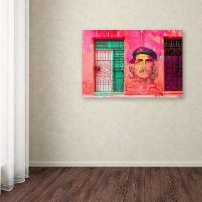 """30 in. x 47 in. """"Che on the Wall Havana"""" by Masters Fine Art Printed Canvas Wall Art"""