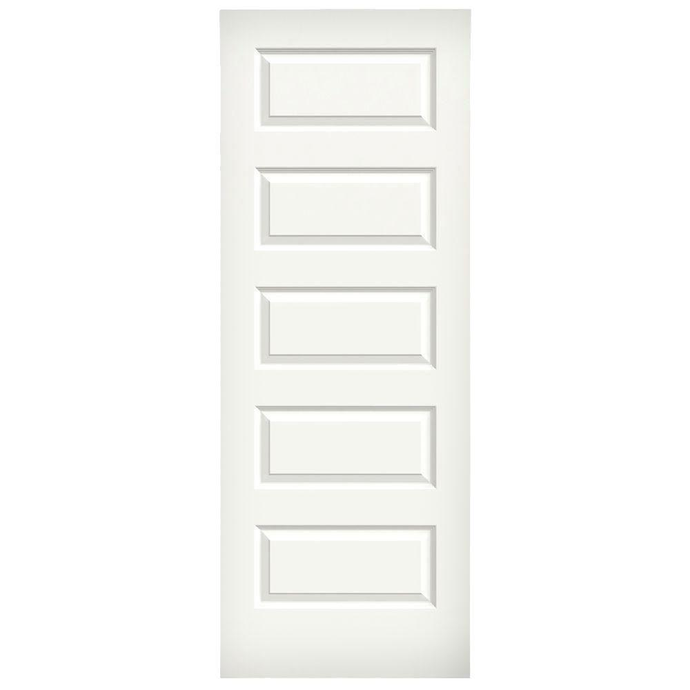 jeldwen 32 in x 80 in rockport white painted smooth molded composite mdf interior door the home depot