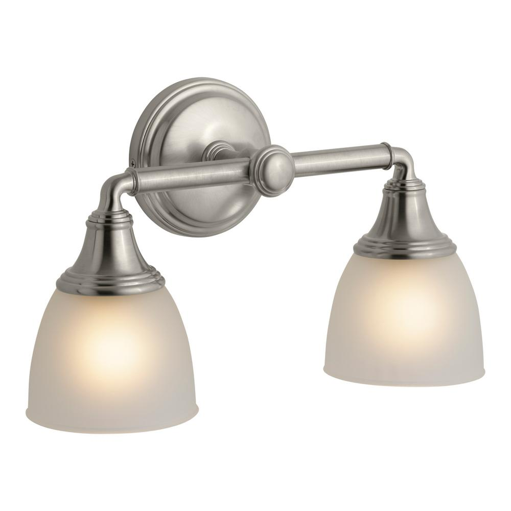KOHLER Devonshire 2-Light Vibrant Brushed Nickel Wall Sconce-K-10571 ...