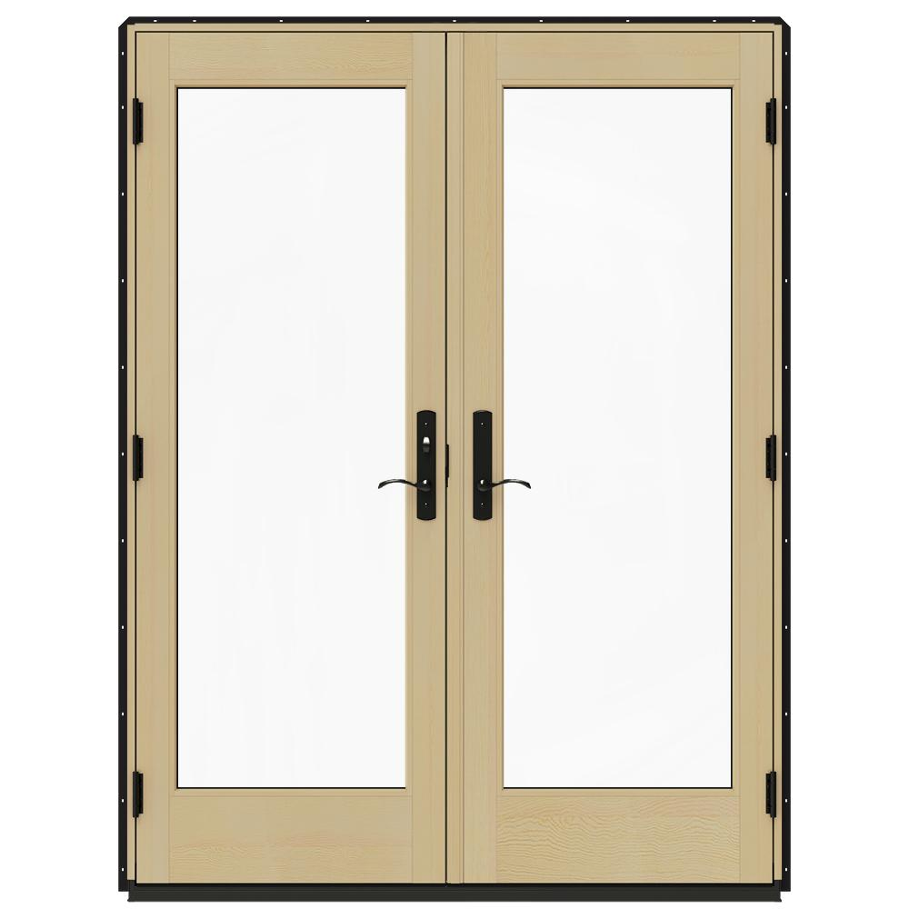 French Patio Doors Home Depot: JELD-WEN 60 In. X 80 In. W-4500 Black Prehung Right-Hand