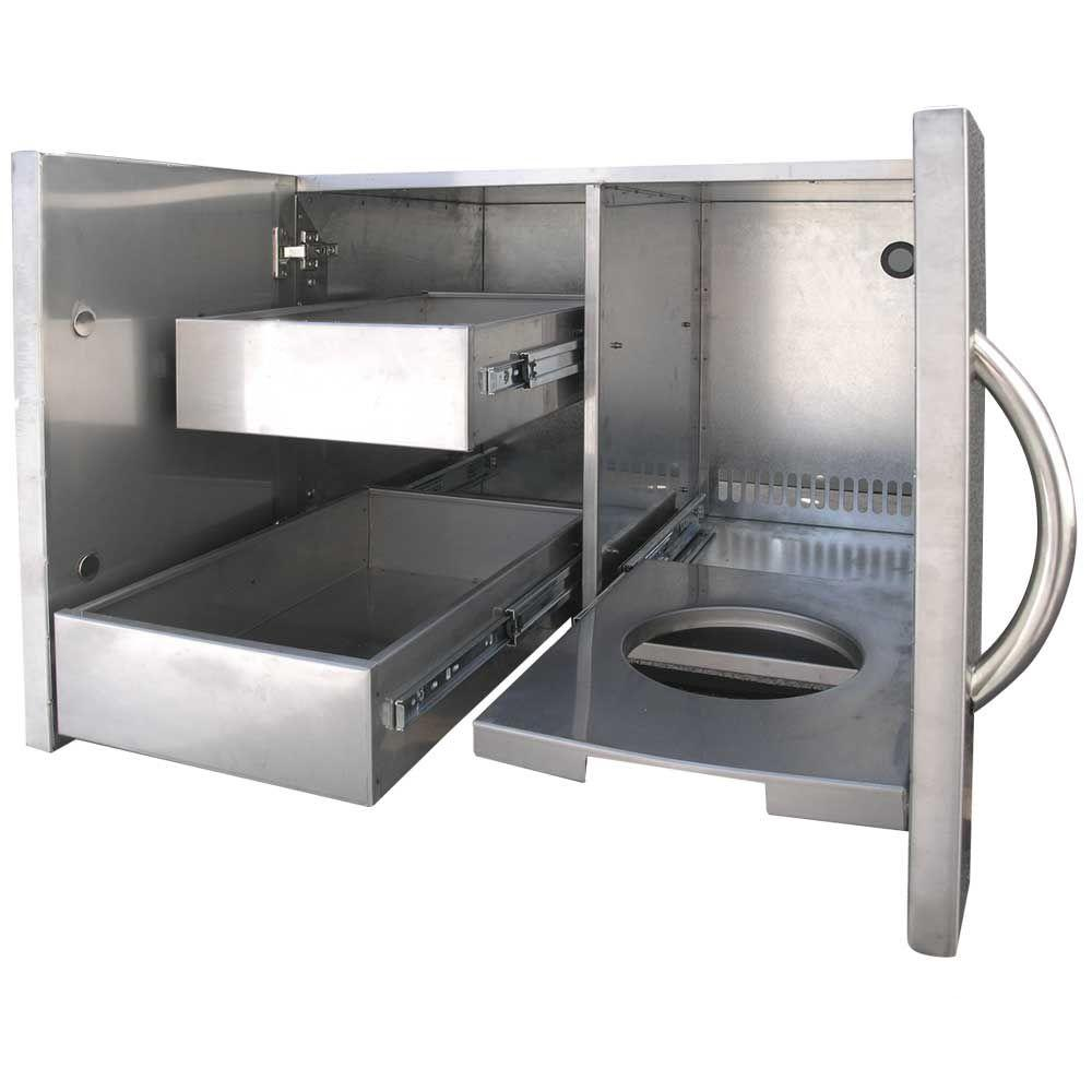 30 Outdoor Kitchens And Grilling Stations: Cal Flame Outdoor Kitchen 30 In. Stainless Steel Door And