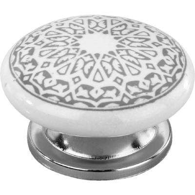New Haven 1-3/5 in. Grey Cabinet Knob