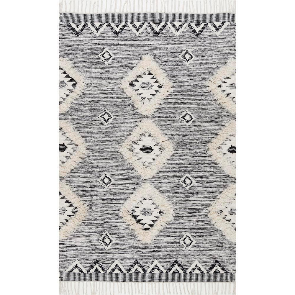 Savannah Moroccan Fringe Grey 4 Ft X 6 Area Rug