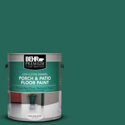 1 gal. #S-H-480 Forest Rain Low-Lustre Interior/Exterior Porch and Patio Floor Paint