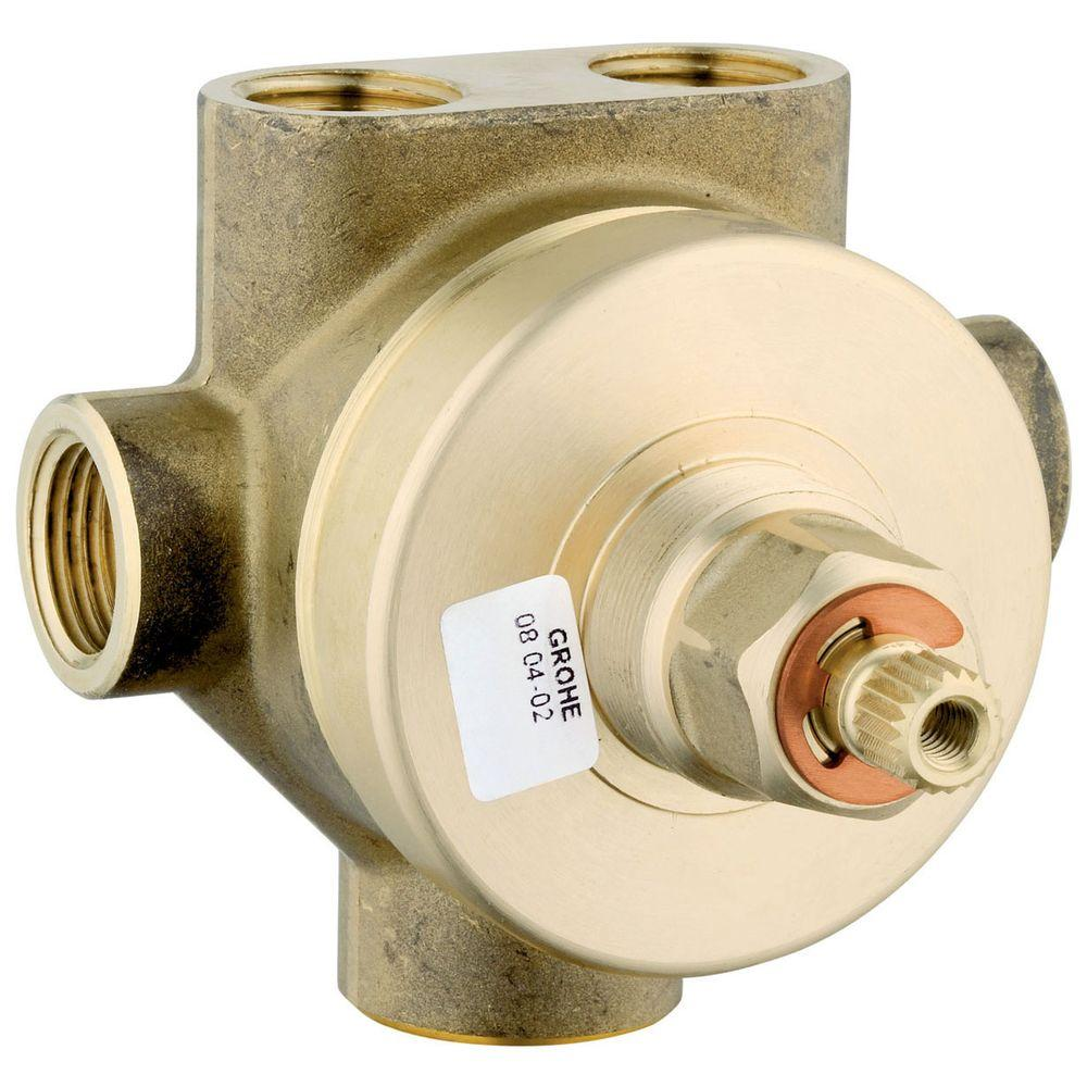 5-Port Brass Diverter Rough-In Valve