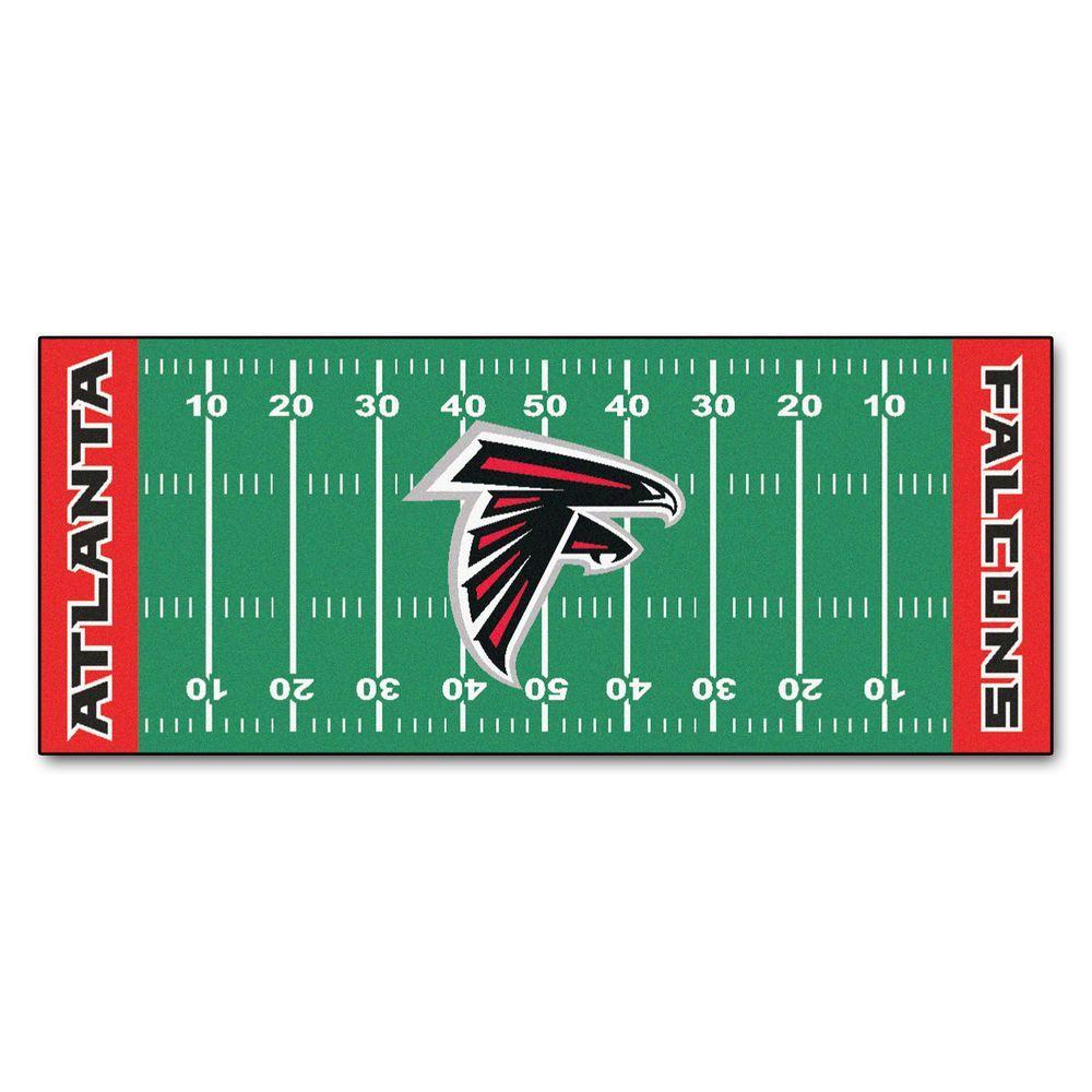 Fanmats Atlanta Falcons 3 Ft X 6 Ft Football Field Rug