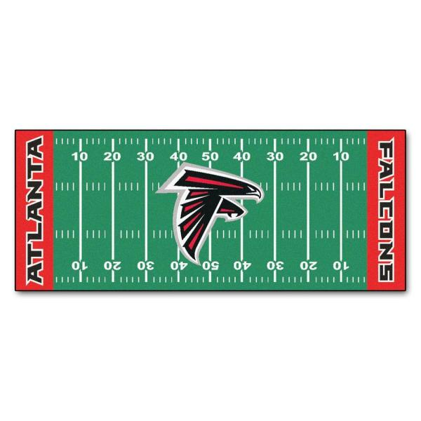 Atlanta Falcons 3 ft. x 6 ft. Football Field Rug Runner Rug