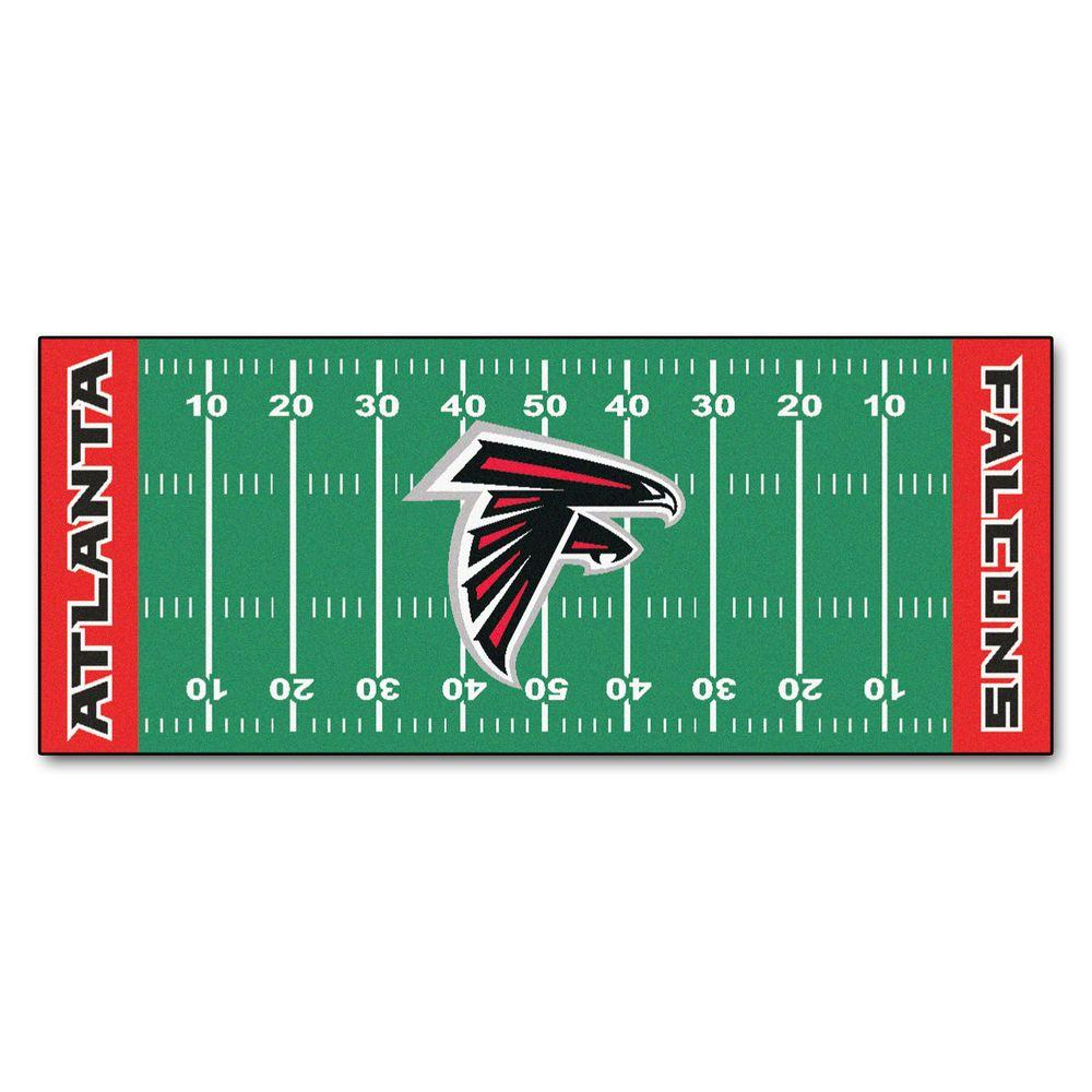Fanmats Atlanta Falcons 2 Ft 6 In X 6 Ft Football Field