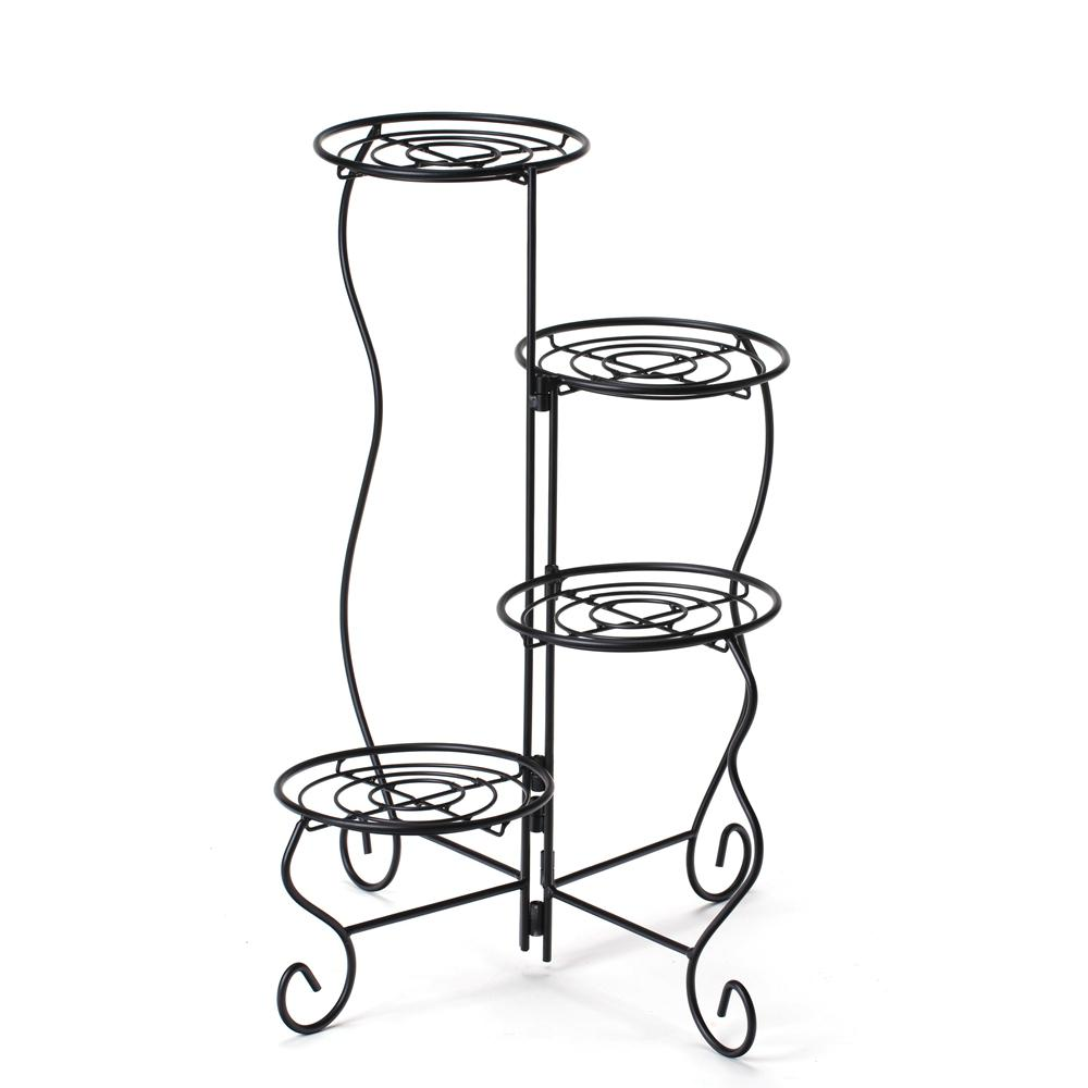 Worth Garden 11 in. x 9 in. x 27 in. 4-Tier  sc 1 st  The Home Depot : metal flower pot holders - startupinsights.org