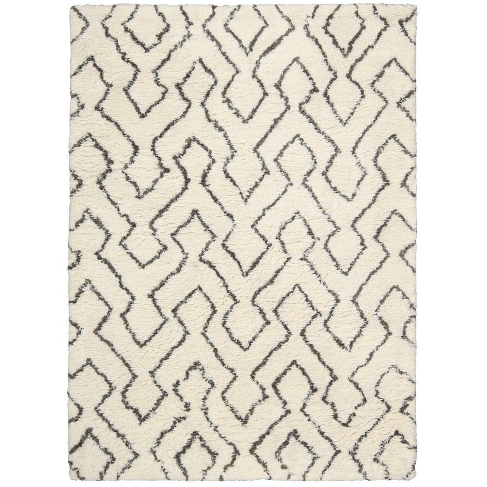 Nourison Galway Ivory/Chocolate 7 ft. 6 in. x 9 ft. 6 in. Area Rug