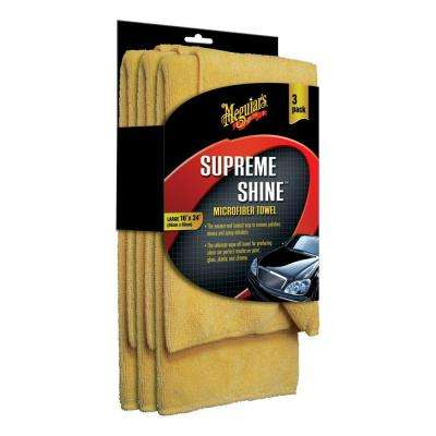 Supreme Shine Microfiber Towel (3-Pack)