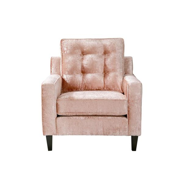 Progressive Furniture Brentwood Blush Pink Polyester Velvet Accent Chair