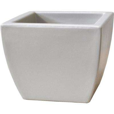 Toscana 20 in. White Plastic Square Patio Planter