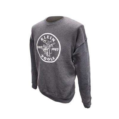 Unisex Size Large Gray Crew Neck Sweatshirt