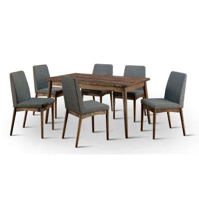 solid wood dining room sets. Nerlim 7 Piece Natural Tone Dining Set Mid Century Modern  Solid Wood Room Sets Kitchen