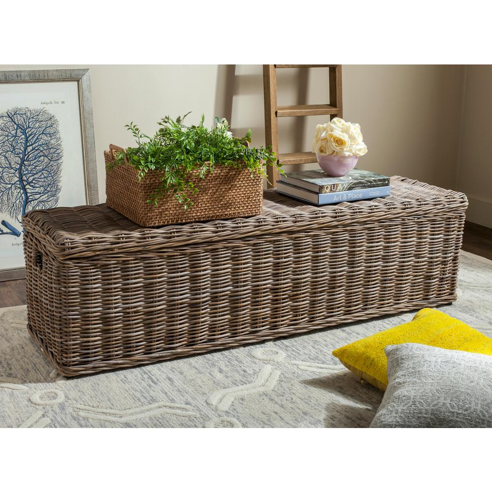 Awe Inspiring Safavieh Caius Natural Storage Bench Sea7017A The Home Depot Pabps2019 Chair Design Images Pabps2019Com
