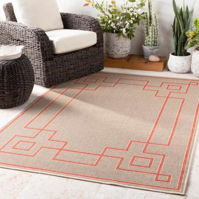 Blanche Taupe 7 ft. x 7 ft. Square Indoor/Outdoor Area Rug