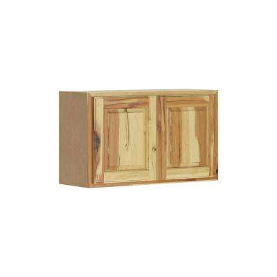 Madison Assembled 30x18x12 in. Wall Bridge Cabinet in Hickory