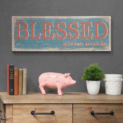 "11.75 in. x 37.00 in. ""Blessed Beyond Measure"" Printed Wall Art"