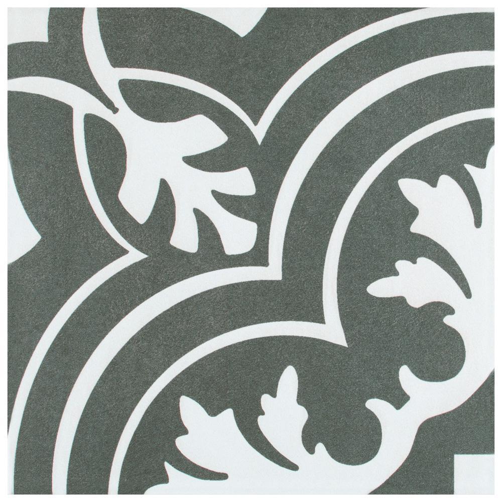 Twenties Classic Encaustic Ceramic Floor and Wall Tile - 7-3/4 in. x 7-3/4 in. Tile Sample
