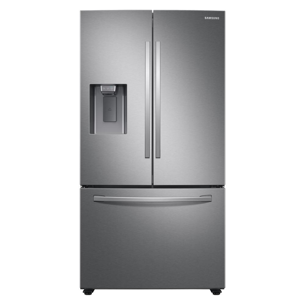Reviews For Samsung 27 Cu Ft French Door Refrigerator In Fingerprint Resistant Stainless Steel Rf27t5201sr The Home Depot