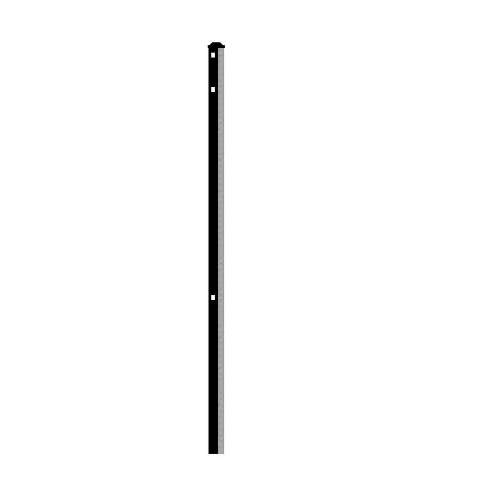 Adams/Jefferson 2 in. x 2 in. x 5 ft. Black Heavy-Duty