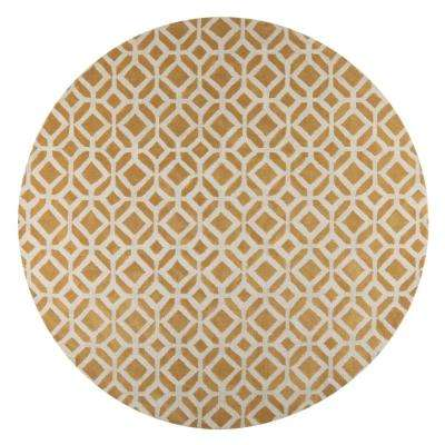 Taza Yellow 8 Ft X Round Area Rug