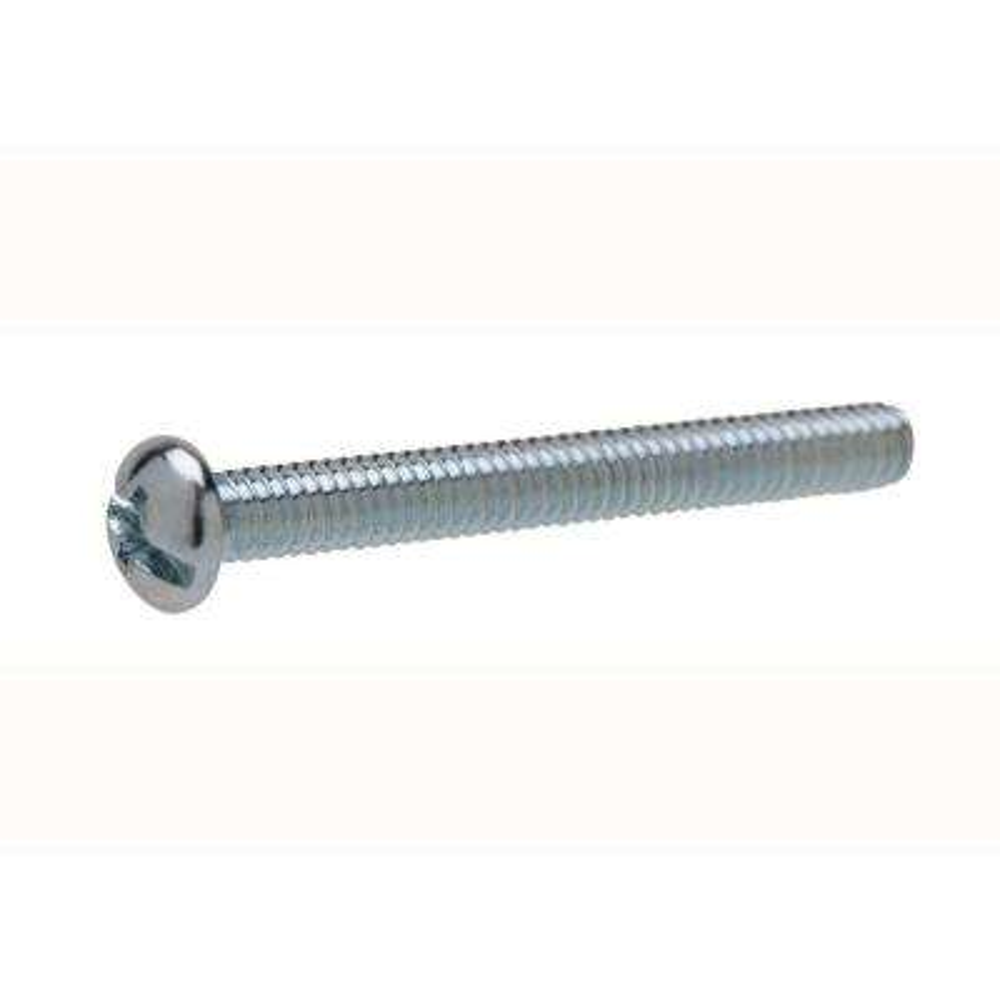 #10-24 tpi x 5 in. Zinc-Plated Round Head Combo Machine Screw (2-Pack)