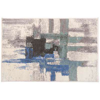 Contemporary Modern Abstract Rug 2' x 3' Blue