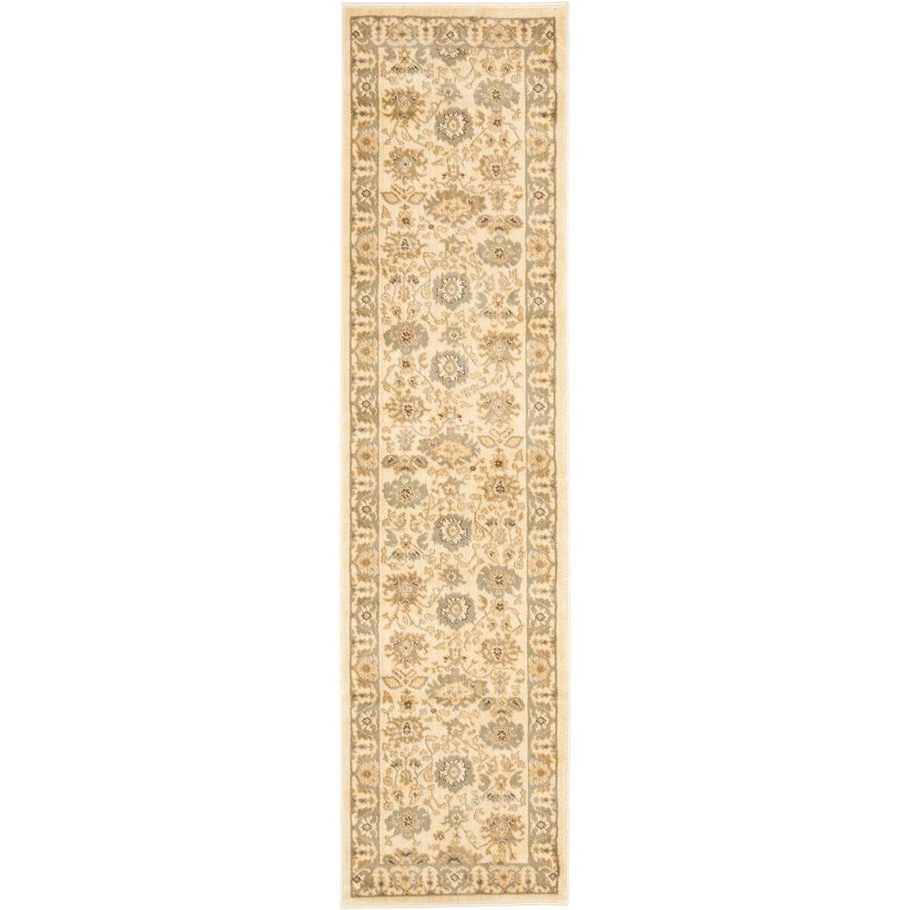 Safavieh Heirloom Cream/Blue 2 ft. 3 in. x 8 ft. Runner