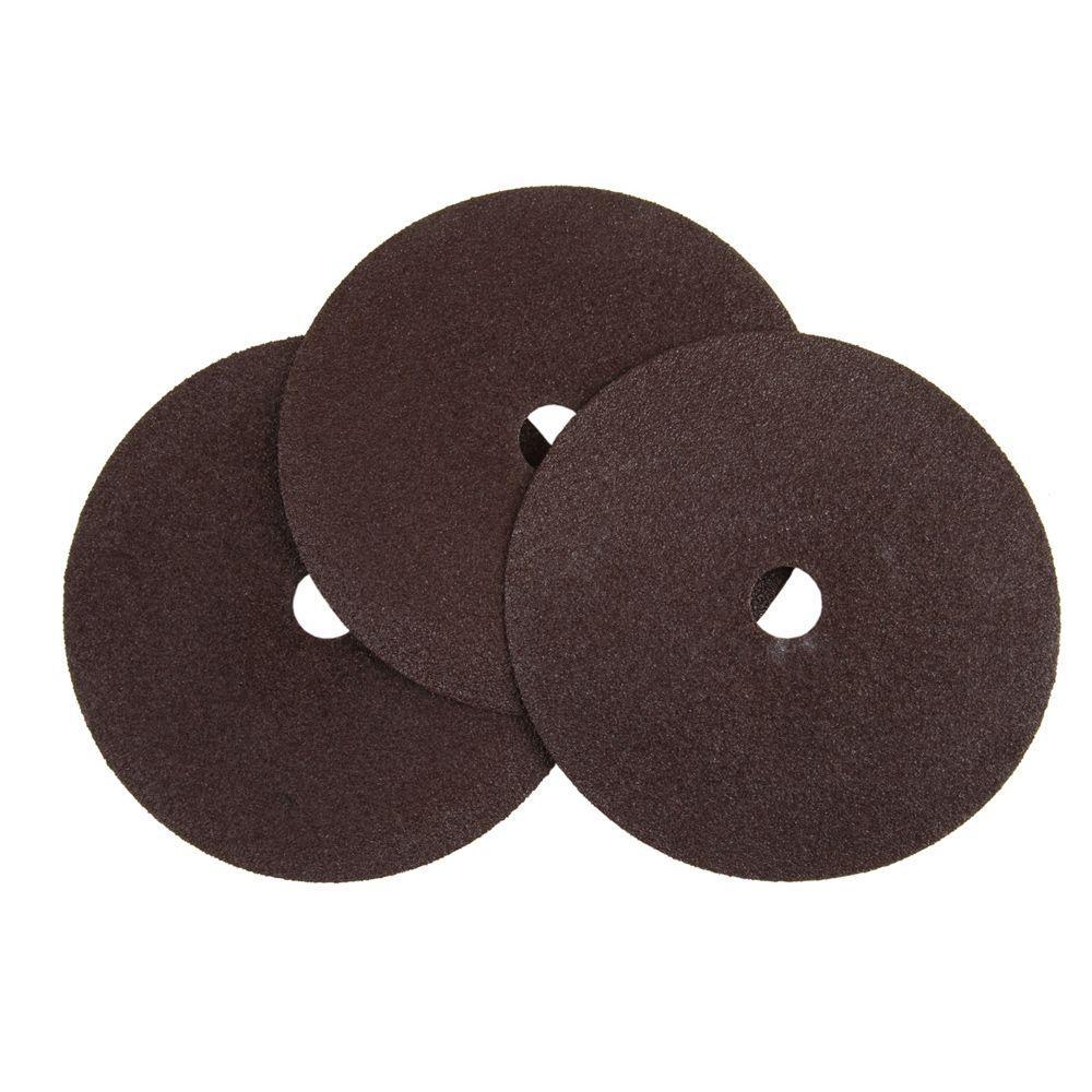 7 in. 80-Grit Sanding Discs (3-Pack)