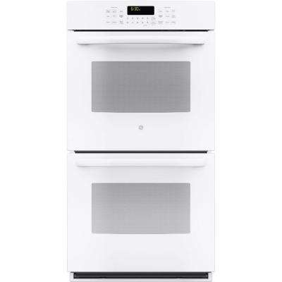 Profile 27 in. Double Electric Smart Wall Oven with Convection (Upper Oven) Self-Cleaning and Wi-Fi in White