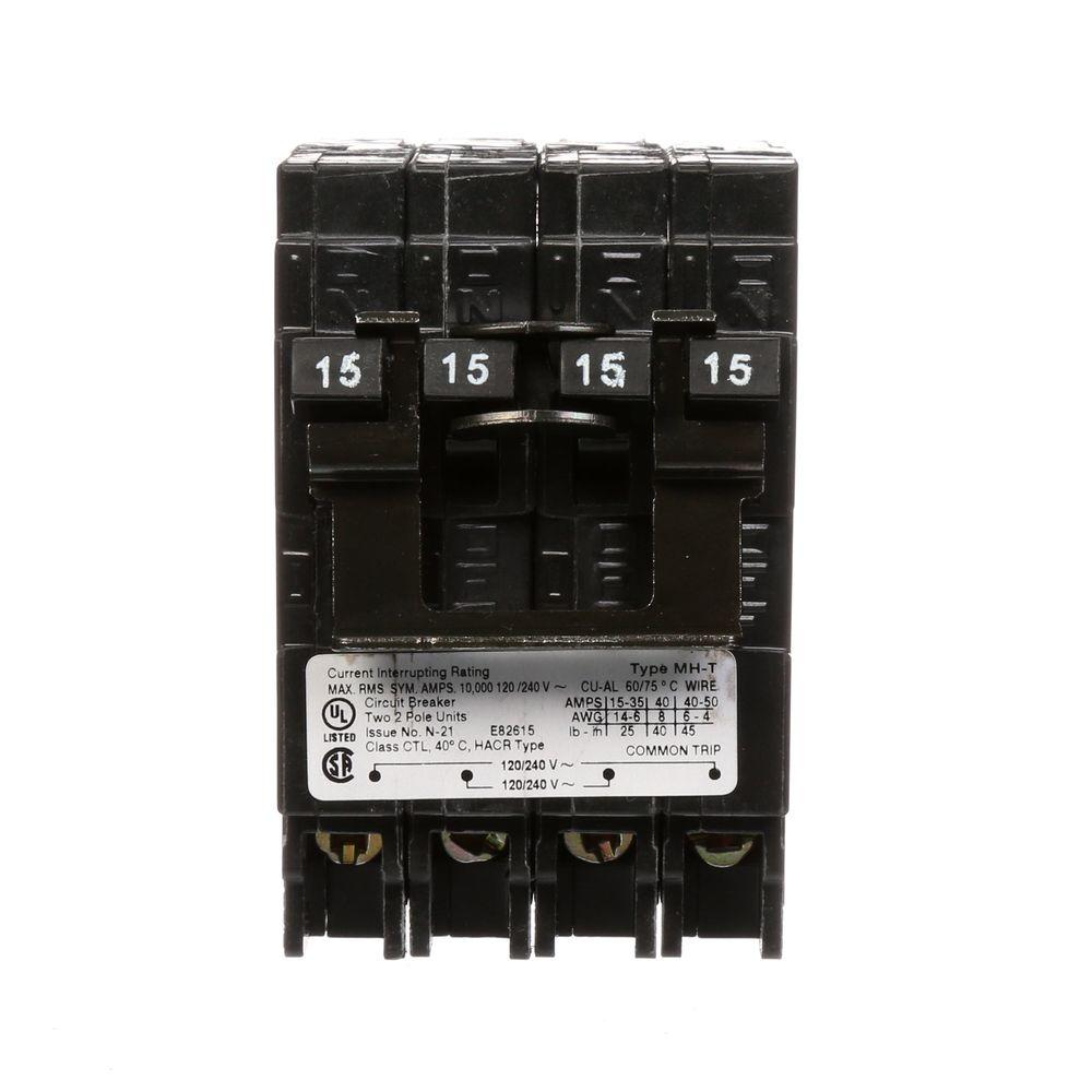 Square D Homeline 2 15 Amp Single Pole 1 50 Quad Breaker Wiring Diagram Double Type Mp T Plug In