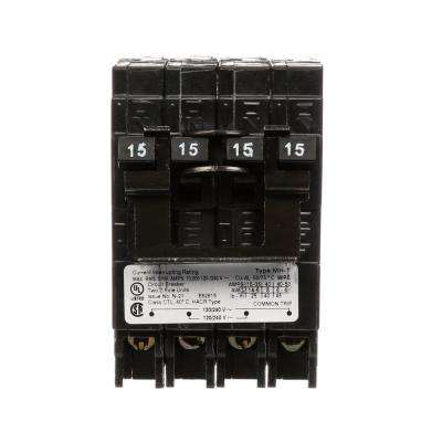 (2) 15 Amp Double-Pole Type MP-T Quad Plug-In Circuit Breaker