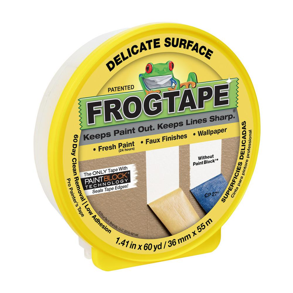 FrogTape Delicate Surface 1.41 in. x 60 yds. Painter's Tape with PaintBlock (10-Pack)