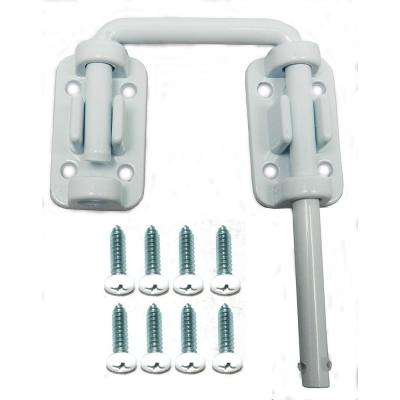 2 in. Patio Door Security Latch, White