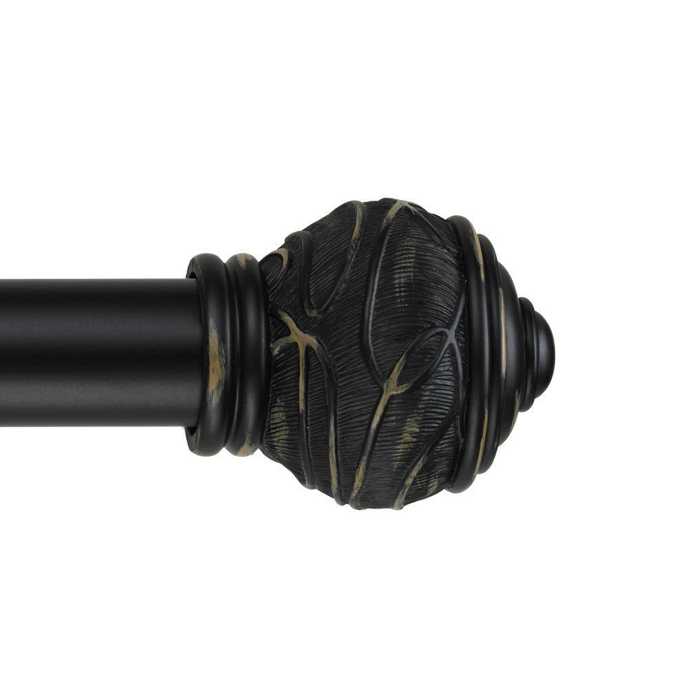 Mercado 8 ft. Non-Telescoping Curtain Rod in Black