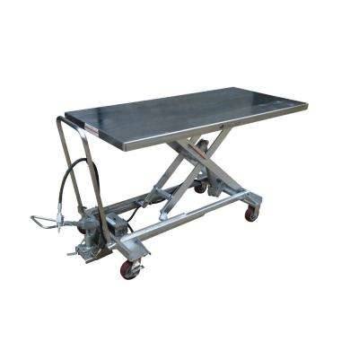 1,000 lbs. 31.5 in. x 79 in. Hydraulic Steel Cart