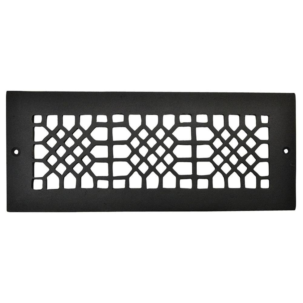 Copper Mountain Hardware 12 in. x 4 in. Cast Iron Grille