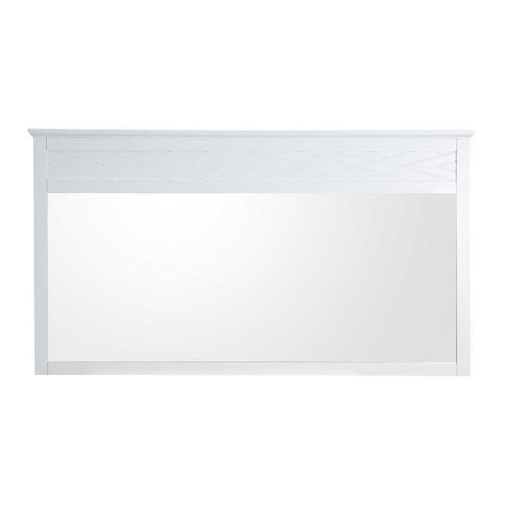 HomeDecoratorsCollection Home Decorators Collection Clemente 33 in. H x 60 in. W Framed Wall Mirror in White