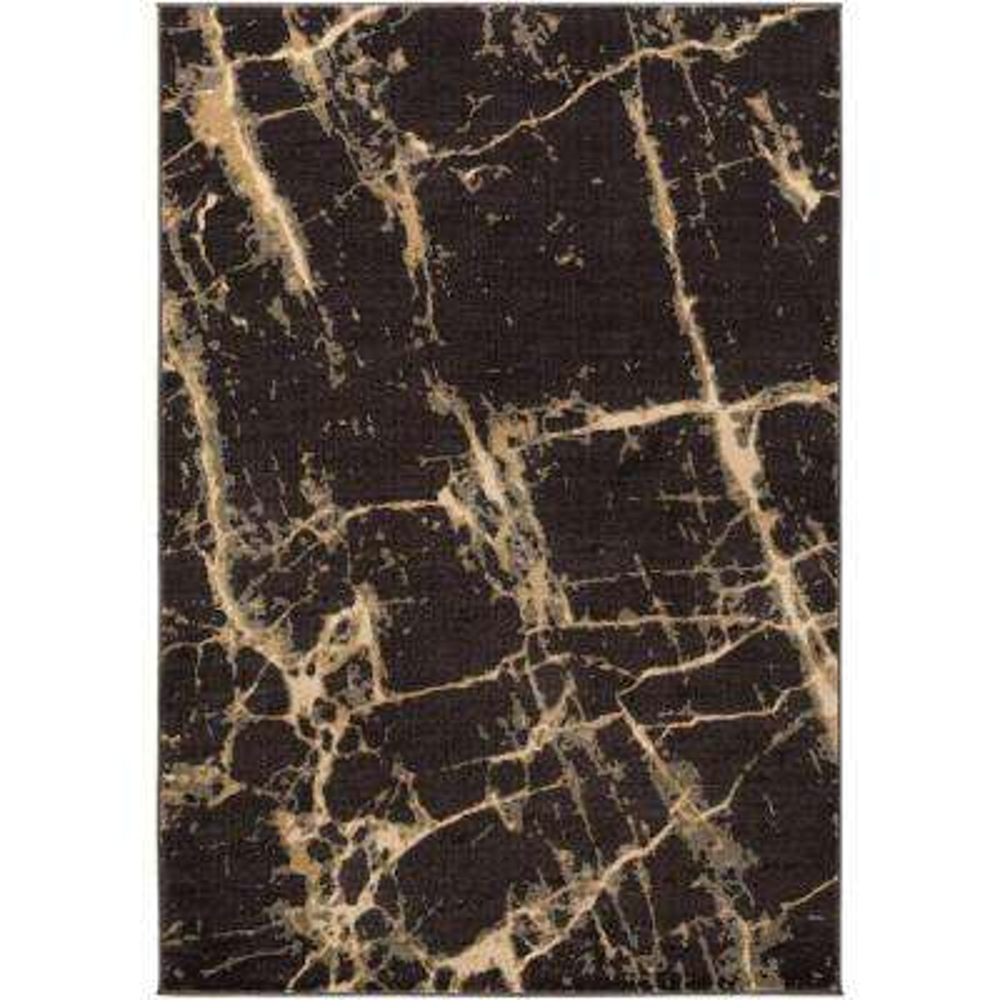 Steinberger Black 5 ft. x 8 ft. Indoor Area Rug