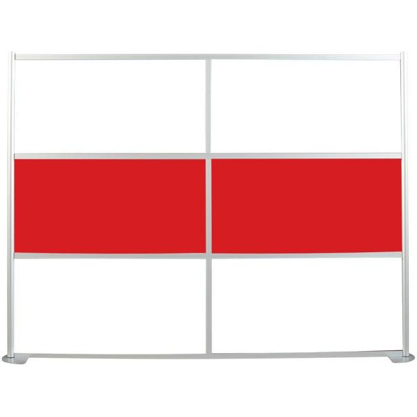 100-1/8 in. x 75-3/8 in. uDivide White and Red 6-Panel Room Divider