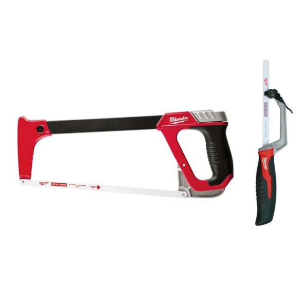 12 in. Hack Saw with Rubber Handle with 10 in. Hack Saw