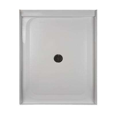 36 in. x 48 in. Center Drain 3.19 in. Shower Base in White
