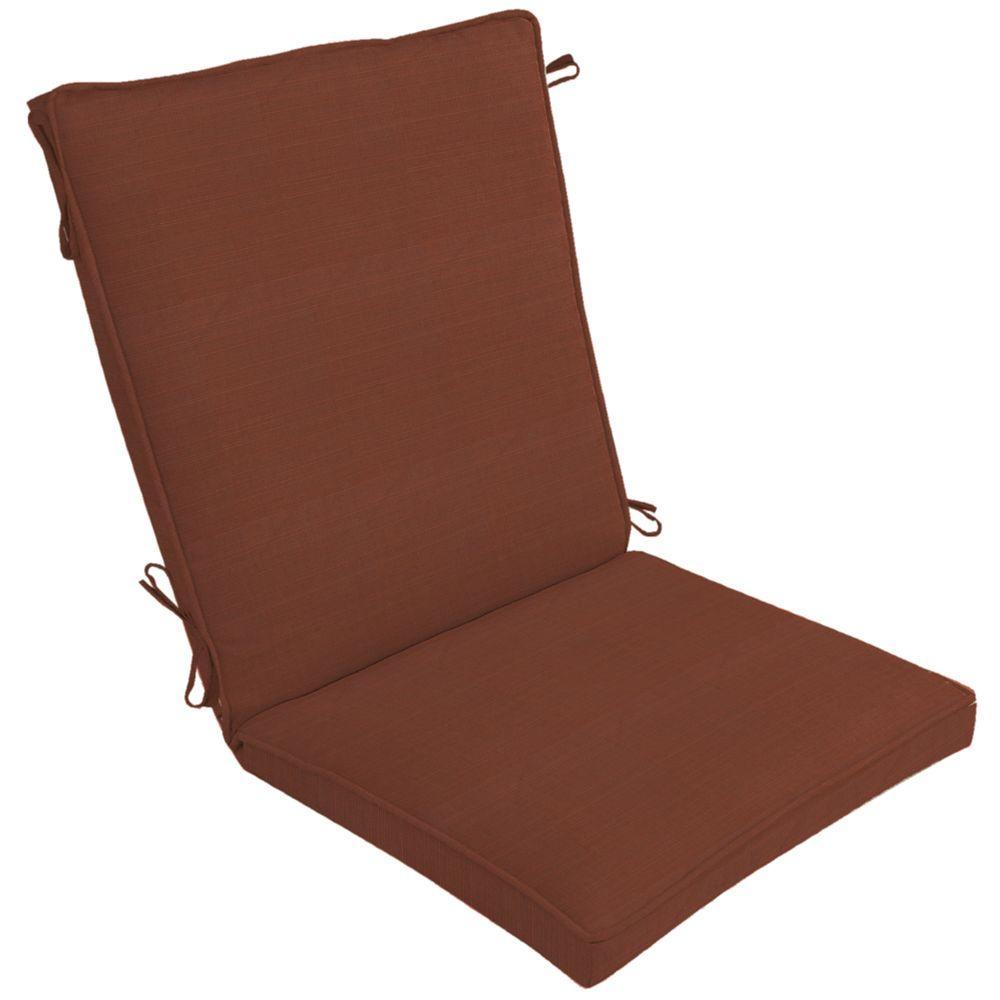 Arden Sunbrella Dupione Henna Single Welt High Back Outdoor Chair Cushion-DISCONTINUED